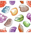 sea shell pattern bright decoration and travel vector image vector image
