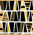seamless pattern gold foil and black vector image vector image