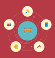 set of industry icons flat style symbols with vector image