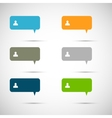 Set of six colorful speech bubbles vector image vector image