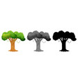 set of tree design vector image vector image