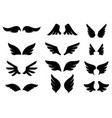 set wing icons design element for poster vector image vector image