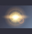 shiny golden outburst in open spase vector image vector image