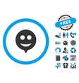 Smile Hint Flat Icon with Bonus vector image vector image