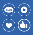 social network blog icons vector image