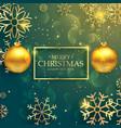 stylish golden christmas balls on luxury style vector image
