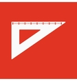The triangle icon vector image