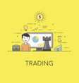 trading and finance strategy digital technologies vector image vector image