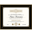 Vintage retro art deco frame certificate template vector image vector image