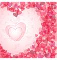 vintage valentine postcard vector image