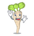 waving parsnip isolated on the cartoon style vector image vector image