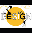 word concept design and people doing creative vector image