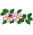 Christmas bouquet vector image