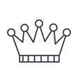 crown line icon sign on vector image