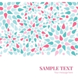 abstract colorful drops horizontal border vector image vector image