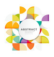 abstract geometric pattern template vector image vector image