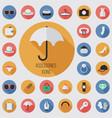 accessories flat digital icon set vector image