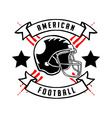 American Football Badge Hand Draw vector image vector image