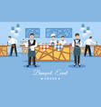 banquet event concept flat vector image vector image