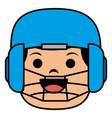 baseball player catcher avatar character vector image
