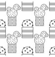black and white seamless pattern of cacti and vector image