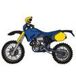 blue motocross bike vector image vector image