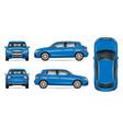 blue suv car mock up vector image
