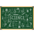 board with school chemistry sketch vector image