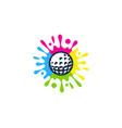 brush golf logo icon design vector image vector image