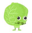 cabbage icon cartoon style vector image vector image