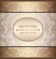 card with rich golden pattern vector image vector image