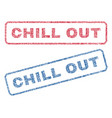 chill out textile stamps vector image vector image
