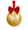 christmas ball with ribbon and a bow vector image vector image