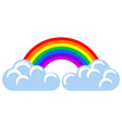 clouds with a rainbow icon vector image