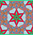 colored mandalas on neutral blue and orange vector image