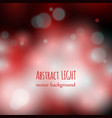 colorful bokeh red background vector image vector image