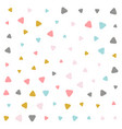 colorful pastel triangle pattern design vector image vector image