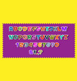 cute colorful paper alphabet lettersnumbers vector image vector image