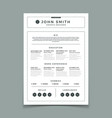 cv resume business web and print design vector image vector image