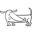 dachshund dog cartoon coloring page vector image vector image