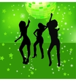 dancing silhouettes of woman in a nightclub vector image