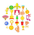 dear prize icons set cartoon style vector image vector image