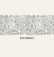 eco energy banner concept vector image