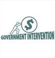 Economy and government intervention vector image