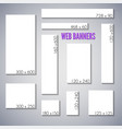 empty box standard size web banners set vector image vector image