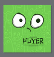 Flyers with Funny faces cartoon-style on vector image vector image
