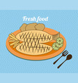 food design over blue background vector image vector image