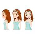 Girl With Colour Skin Step vector image vector image