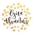 Give thanks greeting vector image vector image