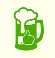 Green Beer Icon vector image vector image
